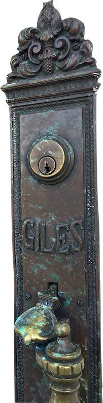 photo of door plate from Giles County Courthouse.