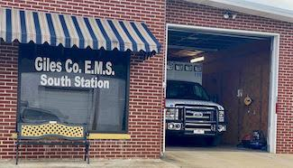 photo of entrance to the South Station of Giles County EMS