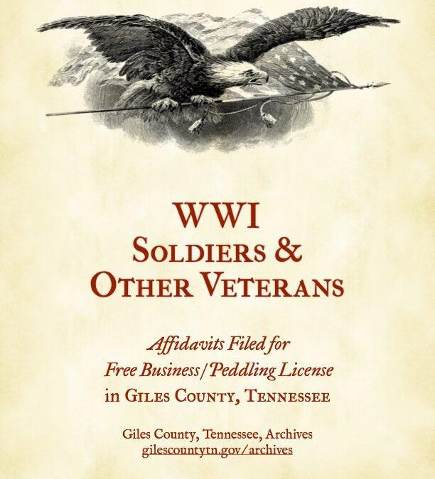 Archives Publishes WWI Soldier Affidavits